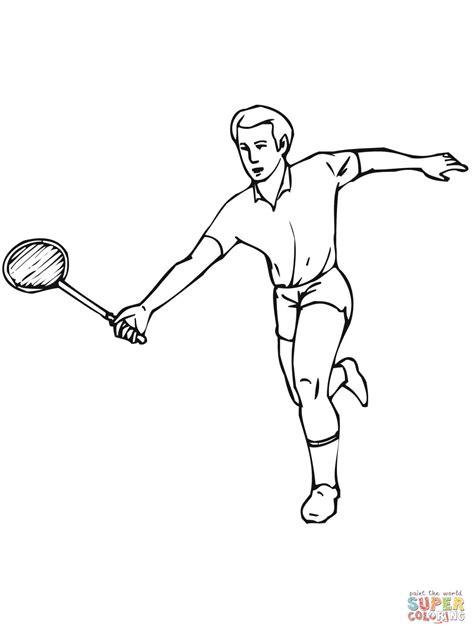 Kleurplaat Badminton by Badminton Coloring Page Free Printable Coloring Pages