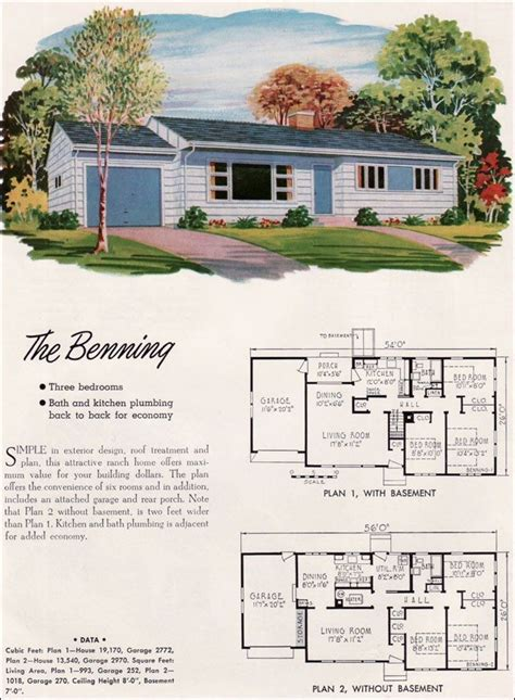 luxury ranch floor plans 1950s ranch house plans home plans design