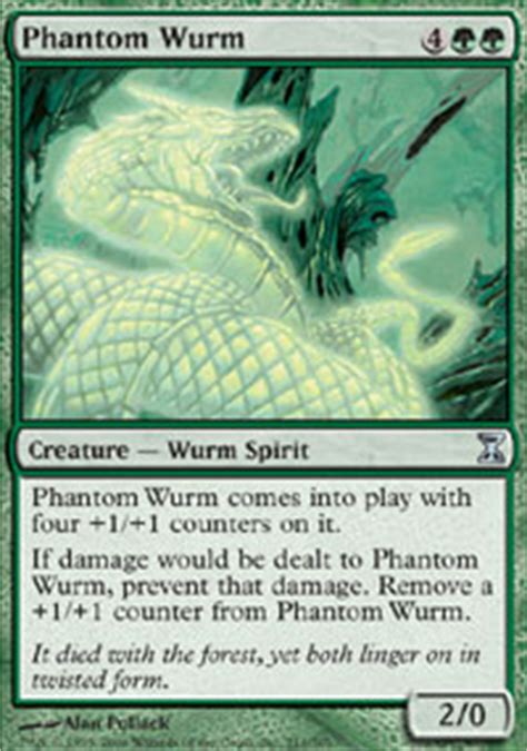 phantom wurm time spiral magic the gathering online
