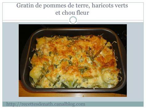 gratin de pommes de terre haricots verts et chou fleur