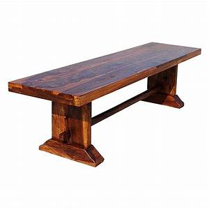 Louvre Rustic Solid Wood Indoor Wooden Bench