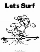Coloring Pages Surfing Luau Surfer Beach Drawing Silver Dog Printable Colouring Clip Getdrawings Popular Library Clipart Coloringhome sketch template