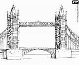 London Coloring Coloriage Monuments Europe Drawbridge Londra Imprimer Sights Ponte Most Zabytki Monumenti Londres Kolorowanki Paris Colorare Londynie Bridge Disegni sketch template