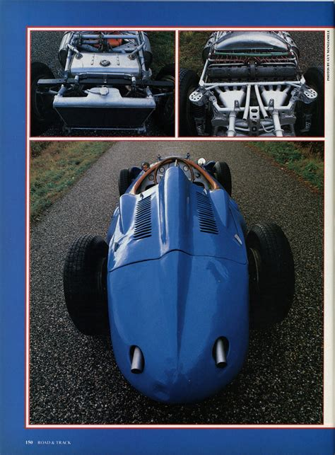 With a 60 by 66 mm bore and stroke, the engine later found a place in the type 39a. Bugatti type 251 with gearbox Porsche typ 607 (Road & Track mag., 03/1988) | Porsche cars history