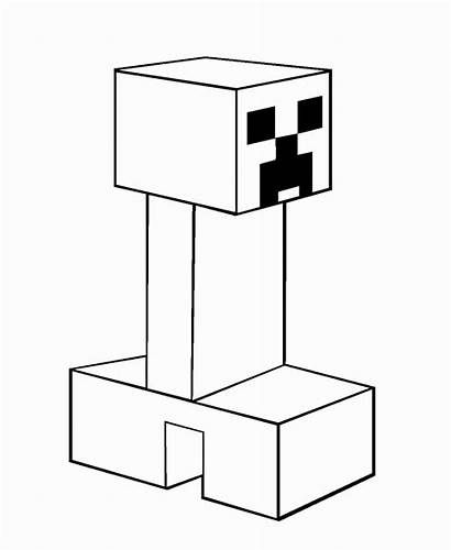 Minecraft Coloring Pages Creeper Enderman Coloring4free Drawing