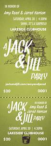 jack and jill event ticket With jack and jill tickets templates