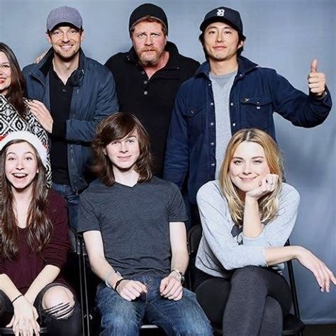 ross marquand high school twd ross marquand michael cudlitz steven yeun catelyn