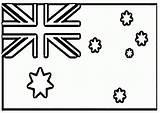 Coloring Flag Australia Australian Flags Preschool Zealand Printable Clipart Anycoloring sketch template