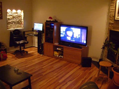 My Gaming Living Room by Pc Room Setup Battle Station Definition Mad Catz Cyborg