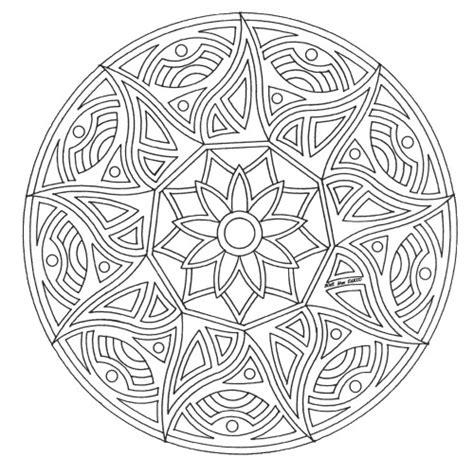 Più difficile è il compito, più gioia e sviluppo si puo' ricevere quando si disegna. mandala_ad_28 disegni da colorare