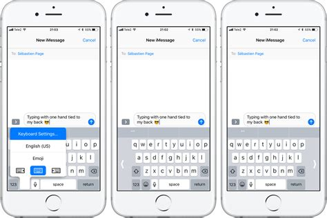 how to use an iphone how to use one handed keyboard mode on iphone