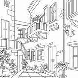 Coloring Pages Adult Colouring Patio Pencil Drawings Bible Sheets Colorful Cartoon Books Party Bohemian Bakery sketch template