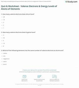 Collection Of Valence Electron Worksheet