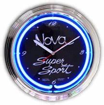 Chevy Nova Neon Clock NC 20 90