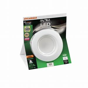 4 in led remodel recessed lighting kit : Sylvania white led remodel recessed light kit fits