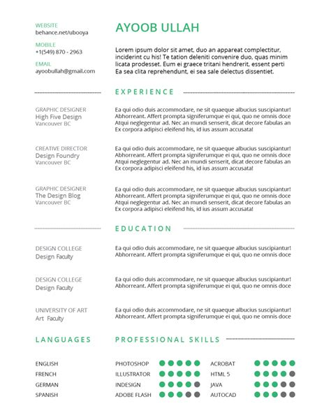 how to create a simple resume using indesign annenberg