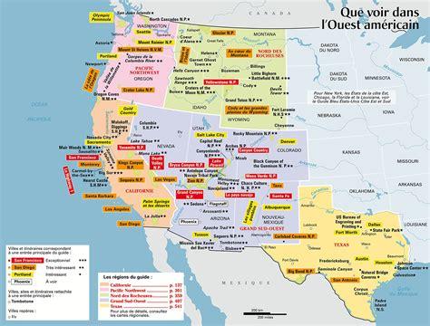 Carte De Touristique Ouest infos sur ouest americain carte touristique arts et