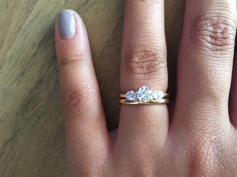 best collection of three stone engagement rings with wedding band
