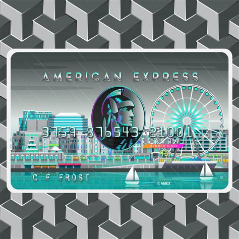 american express card art aha design