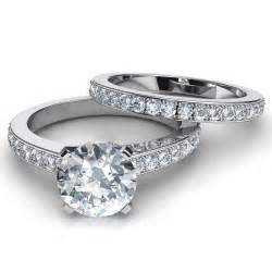 wedding sets for novo brilliant engagement ring matching wedding band set