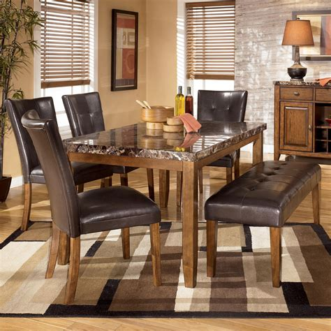 ashley furniture dining tables and chairs signature design by ashley lacey 6 piece dining table with