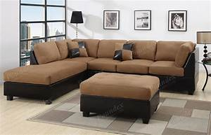 Sectional sofa 3pcs microfiber sectionals sofa in 6 colors for Sofaland couch