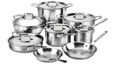 clad cookware stainless brushed d5 sets piece cutlery cutleryandmore