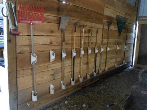 Organize Your Garage By Making A Pvc Yard Tool Storage