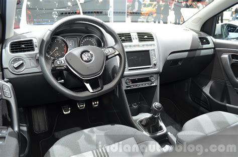 volkswagen polo 2016 interior vw polo allstar interior at the 2016 geneva motor show