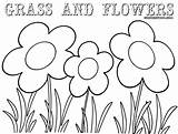 Grass Coloring Pages Colorings Print Coloringway sketch template