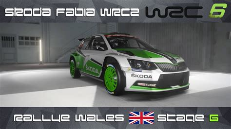 wrc 6 ps4 wrc 6 ps4 skoda fabia wrc2 rally wales stage 6
