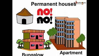 Types Type Clipart Houses Different Homes Animated