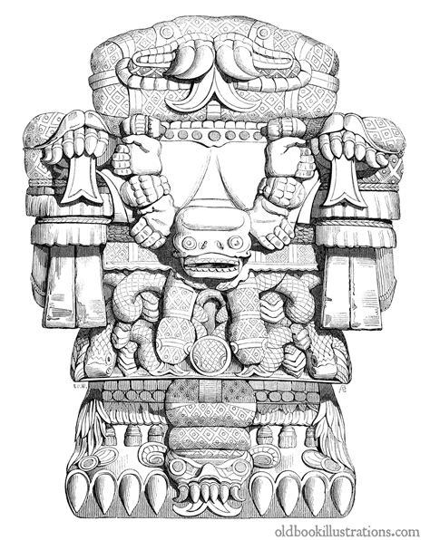 Aztec Goddess Coatlicue – Old Book Illustrations