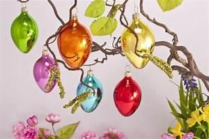 Ostereier Zum Aufhängen : 12 bunt lackierte ostereier aus glas mit se zum h ngen christbaumkugeln christbaumschmuck ~ Orissabook.com Haus und Dekorationen