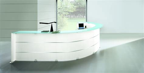 comptoir bureau glass reception desk richardsons office furniture and
