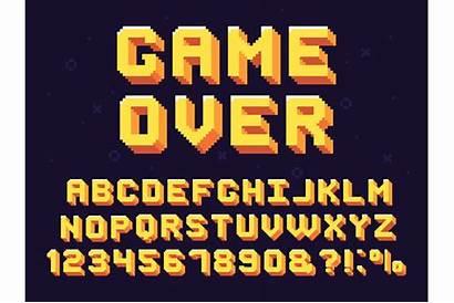Font Text Retro Pixel Gaming 90s Games