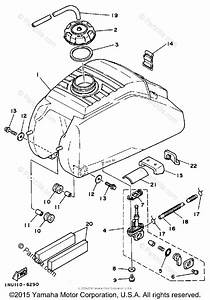 Yamaha Atv 1986 Oem Parts Diagram For Fuel Tank