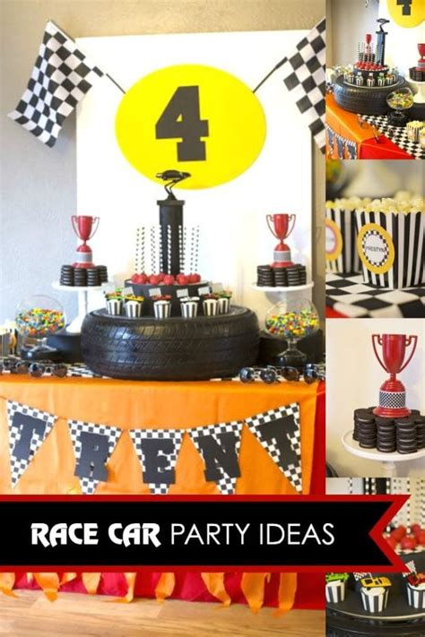 A Rad Race Car Themed 4th Birthday Party  Spaceships And
