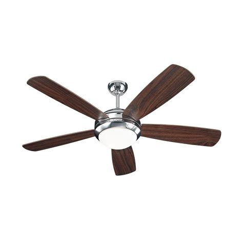 monte carlo discus 52 in polished nickel ceiling fan with