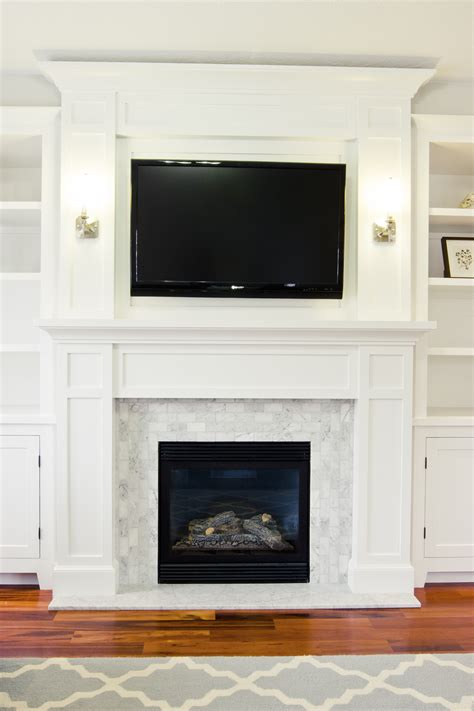 fireplace inspiration design marble subway tiles
