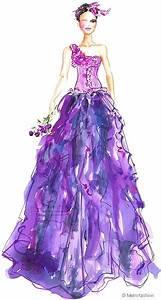 Purple prom dress sketch | Fashion Sketches | Pinterest ...