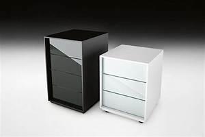 Caisson Bureau Noir : caisson de bureau en verre ~ Teatrodelosmanantiales.com Idées de Décoration