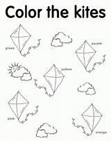 Kites Coloring Kite Preschool Worksheets Pages Printables Colors Kindergarten English Letter Craft Worksheet Sheets Flying Tracing Shapes Pre Printable Spring sketch template