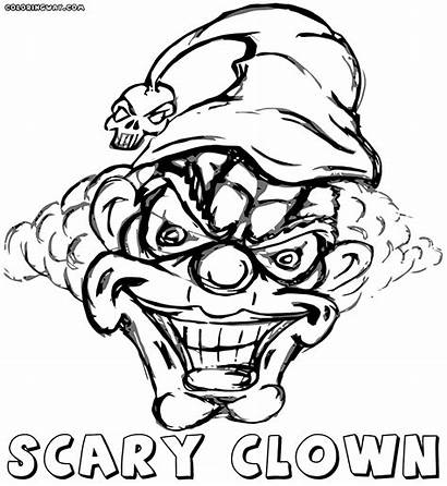 Clown Scary Coloring Pages Colorings