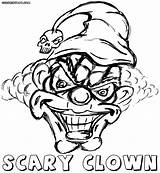 Clown Scary Coloring Pages Print Colorings sketch template