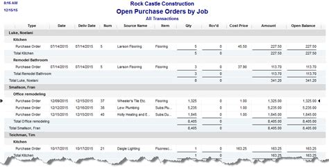 tracking subcontractors  purchase orders experts