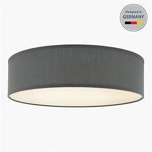 Led Deckenlampe Rund : led deckenlampe stoff grau rund m bel24 ~ Whattoseeinmadrid.com Haus und Dekorationen