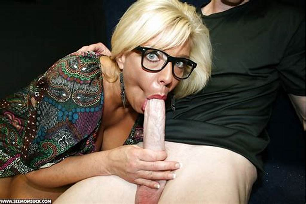 #Mature #Blonde #In #Glasses #Sucks #A #Big #Cock #And #Gets #A