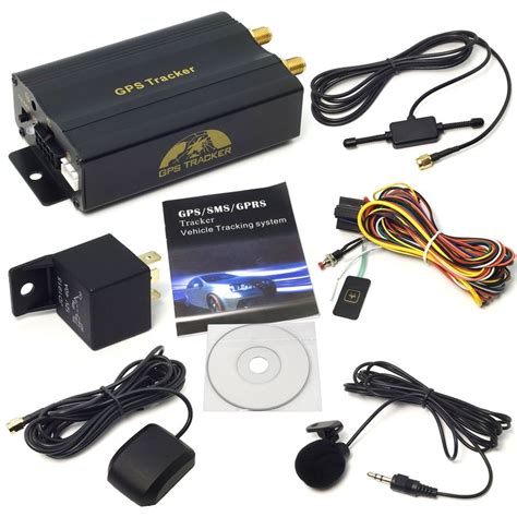 mini gps sms gprs tracker tk103a vehicle car realtime
