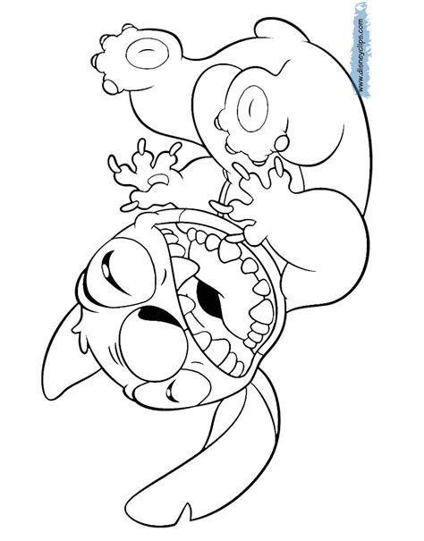 Stitch Kleurplaat by Lilo And Stitch Printable Coloring Pages 2 Disney
